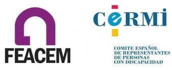 Logos FEACEM y CERMI